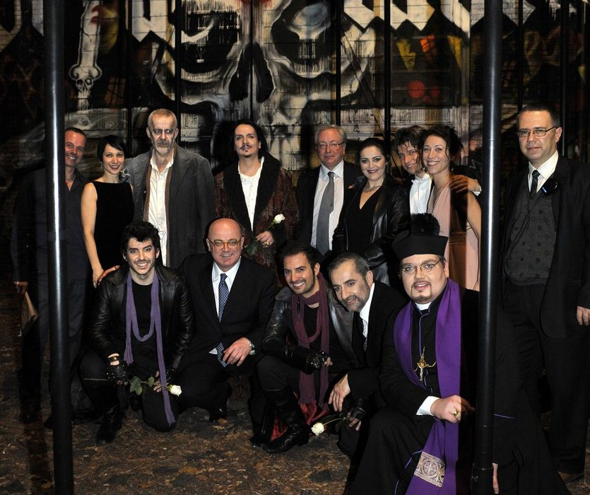 I Masnadieri- Prestia as Moor father- Napoli - foto cast backstage