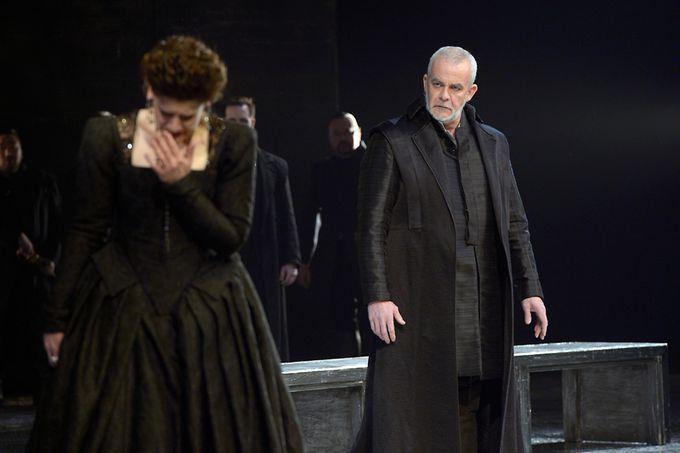Don Carlo Giacomo Prestia as Filippo II Berlino 2015- with Anja Harteros 2