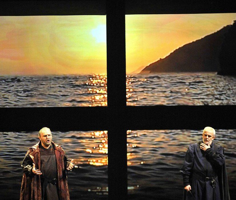 Simon Boccanegra- Teatro La Fenice di Venezia, 2014- Giacomo Prestia as Fiesco- with Piazzola Simone