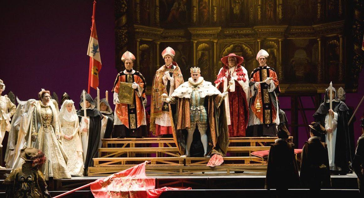 Don Carlo al Massimo di Palermo- Giacomo Prestia as Filippo II scena assieme