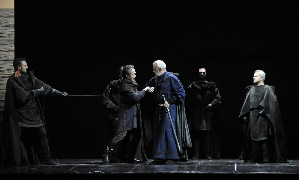 Simon Boccanegra- Teatro La Fenice di Venezia, 2014- Giacomo Prestia as Fiesco- scena