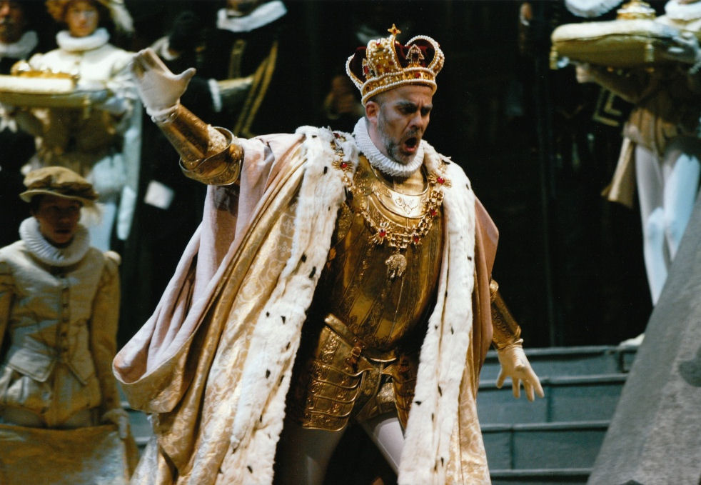 Don Carlo al Massimo di Palermo- Giacomo Prestia as Filippo II scena autodafé