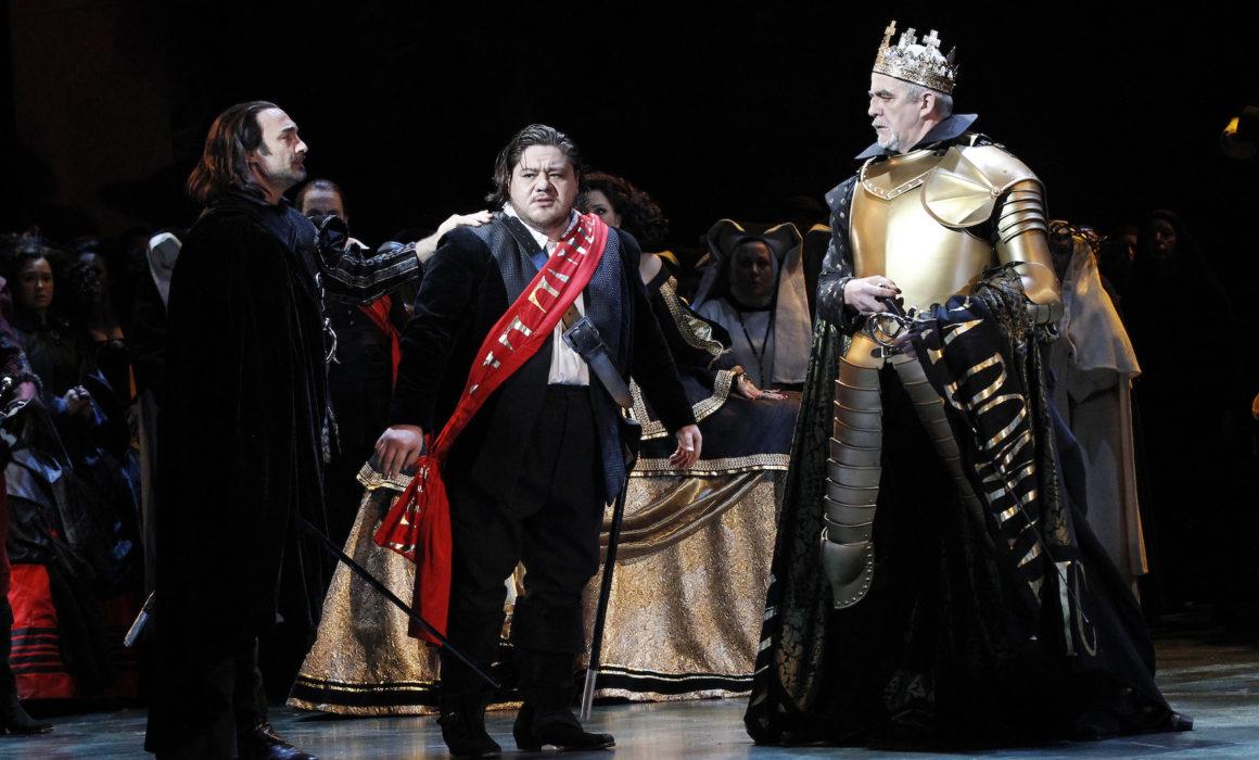 Don Carlos, Giacomo Prestia as Filippo II. Australia with all the cast